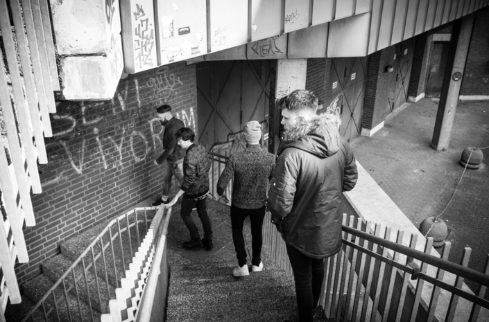 Don Broco walking around in Germany photographed by Marcus Maschwitz