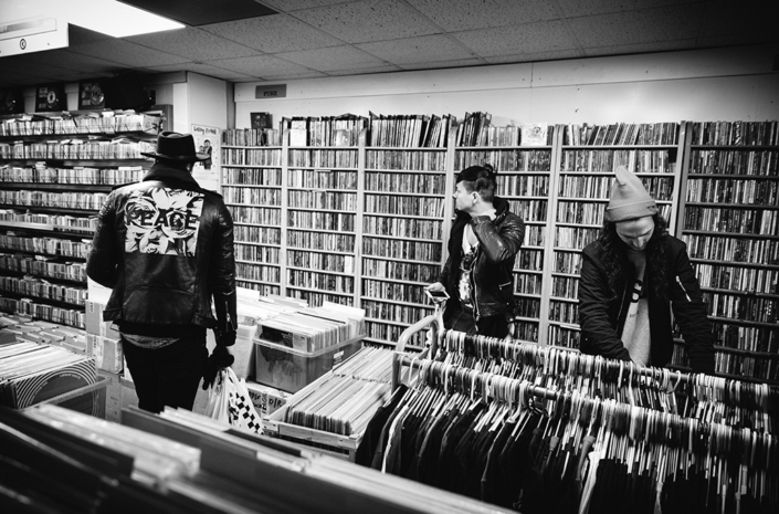 New Volume in a record store on tour photographed by Marcus Maschwitz