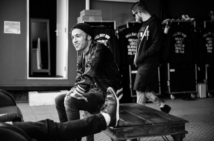Pete Wentz of Fall Out Boy in Reading photographed by Marcus Maschwitz