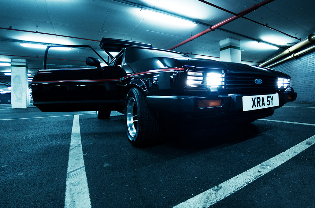 Ford Capri on set for New Volume photographed by Marcus Maschwitz
