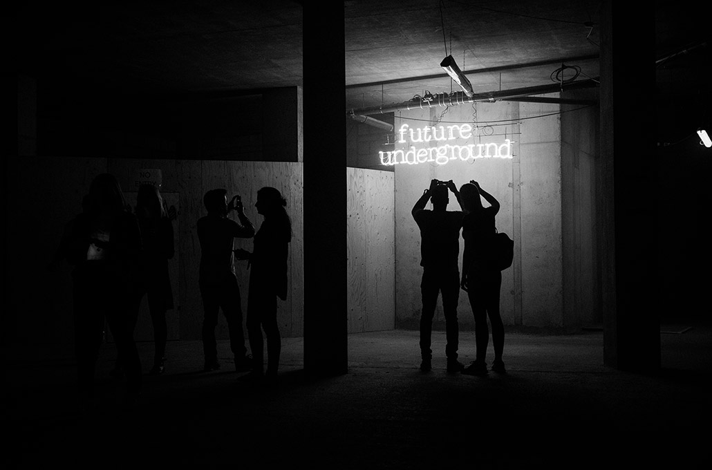 Red Bull Future Underground silhouette photographed by Marcus Maschwitz
