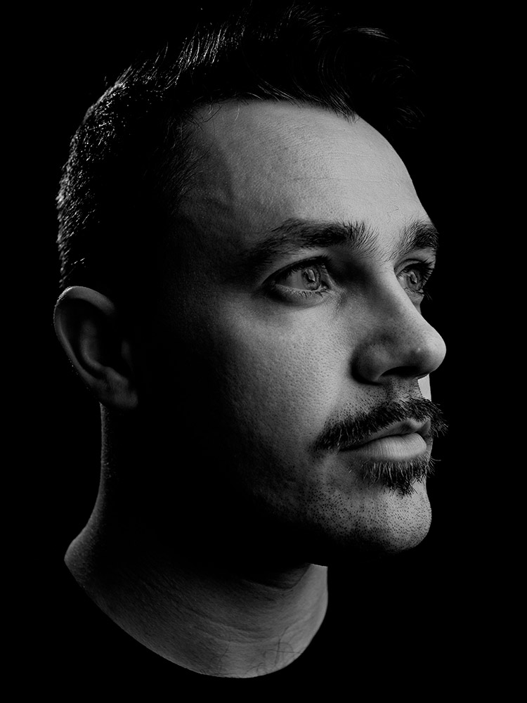 Gavin Butler of The Blackout movember portrait photographed by Marcus Maschwitz