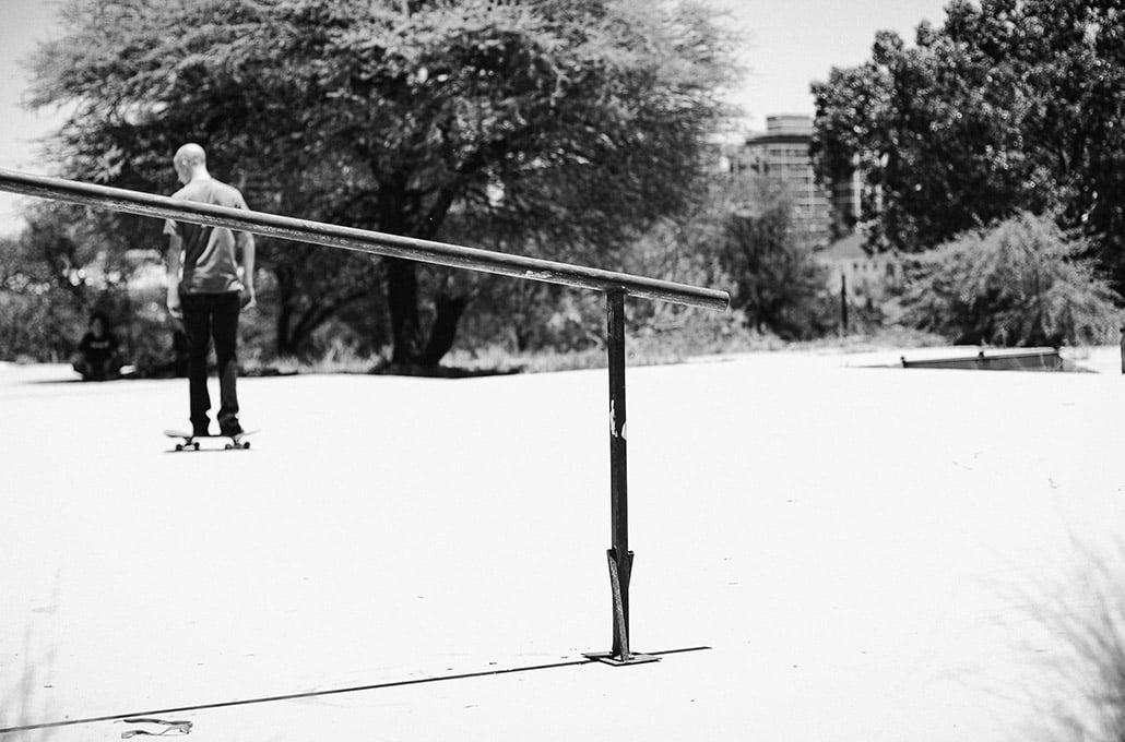 Gavin Scott skateboarding in Pretoria photographed by Marcus Maschwitz