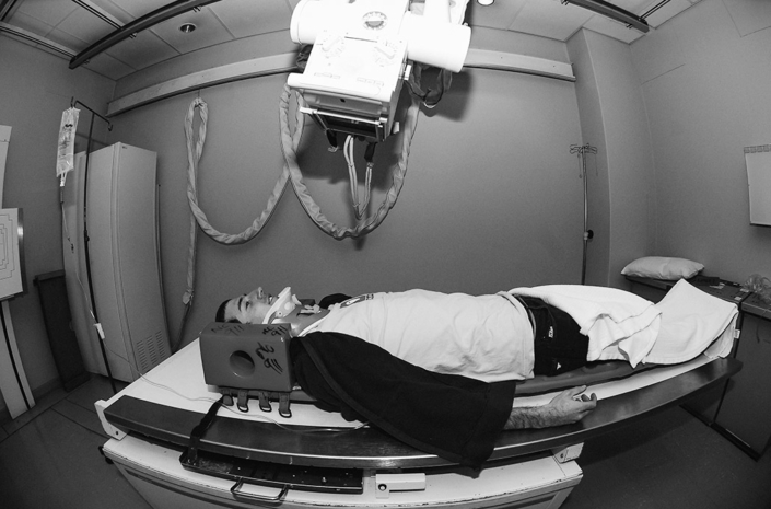 Gavin Scott in hospital photographed by Marcus Maschwitz