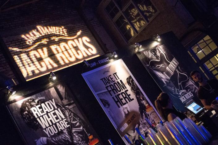 Jack Rocks poster artwork on display