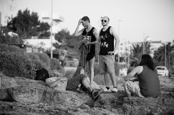 The Blackout boys on the beach in Ibiza photographed by Marcus Maschwitz