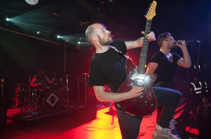 James Davies of The Blackout guitaring live photographed by Marcus Maschwitz