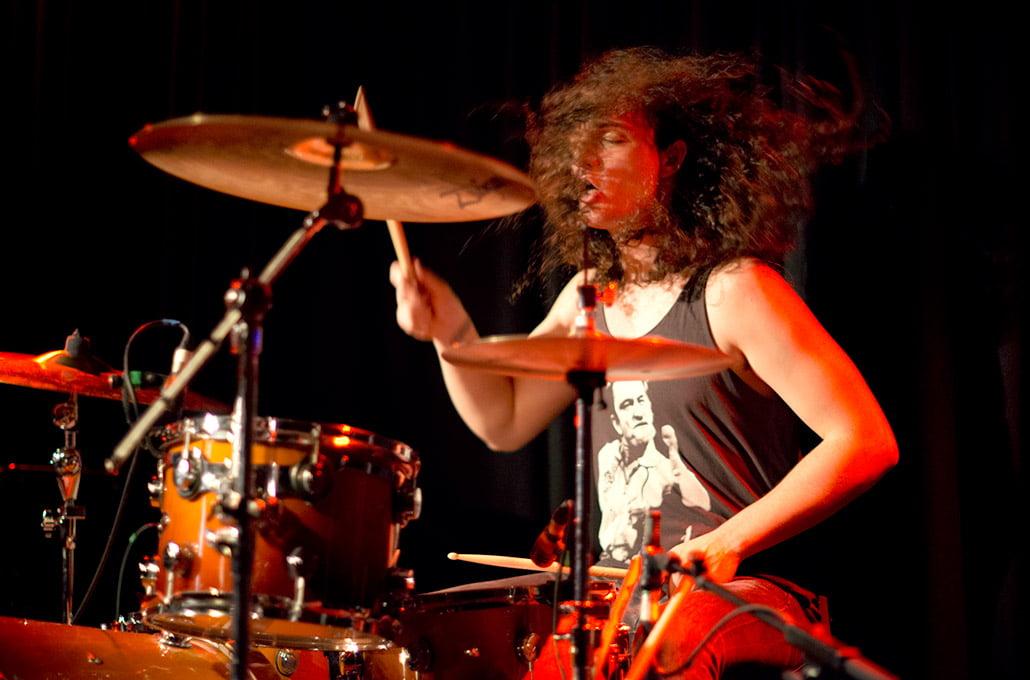 Adam Jenkins of New Volume drumming