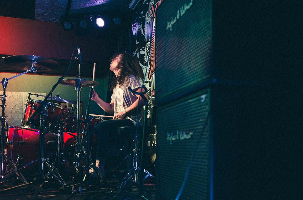 Adam Jenkins drumming live in South Africa photographed by Marcus Maschwitz
