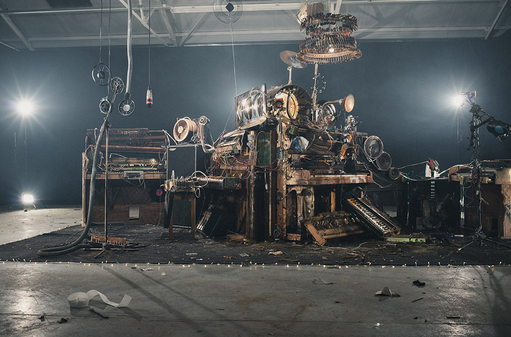ILCK on set music machine props photographed by Marcus Maschwitz