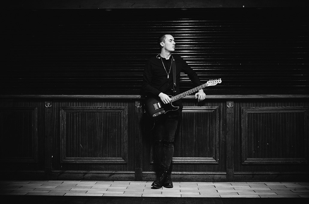 Tyron Layley during sound check photographed by Marcus Maschwitz