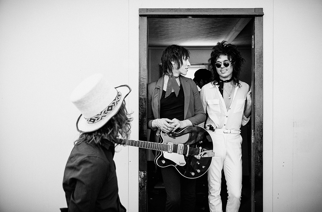 Palaye Royale backstage at Reading Festival photographed by Marcus Maschwitz