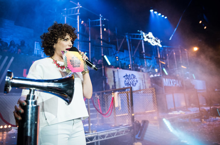 Red Rull Culture Clash London DJ Annie Mac photographed by Marcus Maschwitz