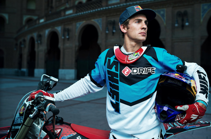 Red Bull Xfighters Josh Sheehan bike portrait