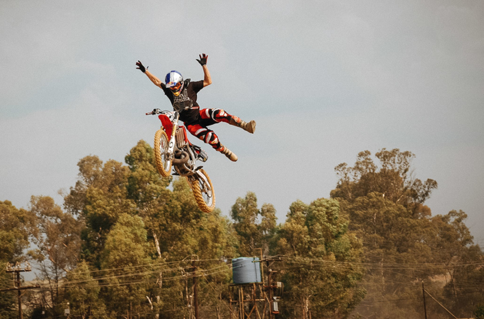 Red Bull FMX rider Sick Nick De Wit sidewinder photographed by Marcus Maschwitz