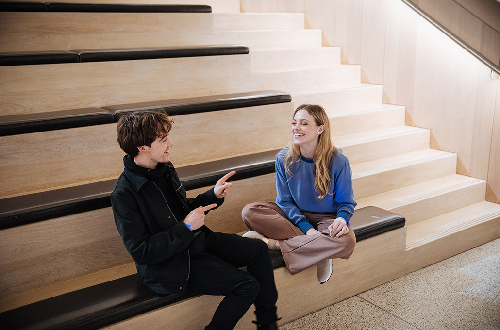 Red Bull Spark actors Alex Lawther and Katie Clarkson-Hill photographed by Marcus Maschwitz