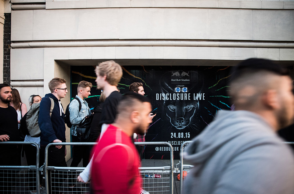 Red Bull Studios Disclosure Caracal live poster photographed by Marcus Maschwitz