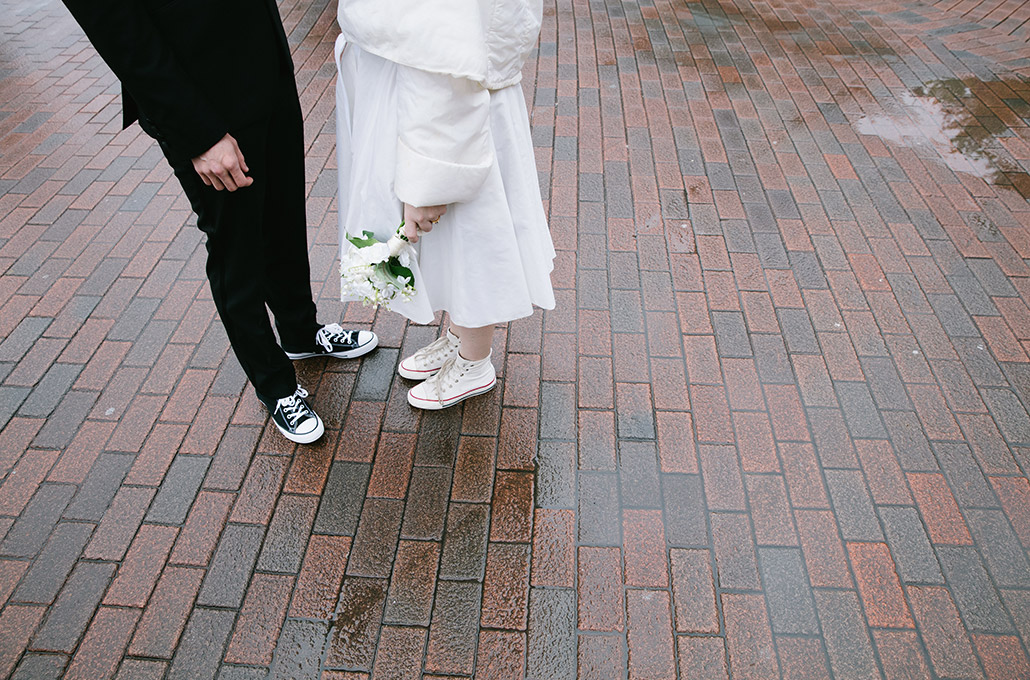 Wedding lifestyle portrait of Rob and Syd at Disneyland Paris photographed by Marcus Maschwitz