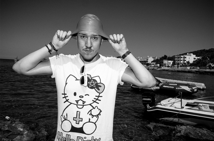 Sean Smith swimming in Ibiza photographed by Marcus Maschwitz