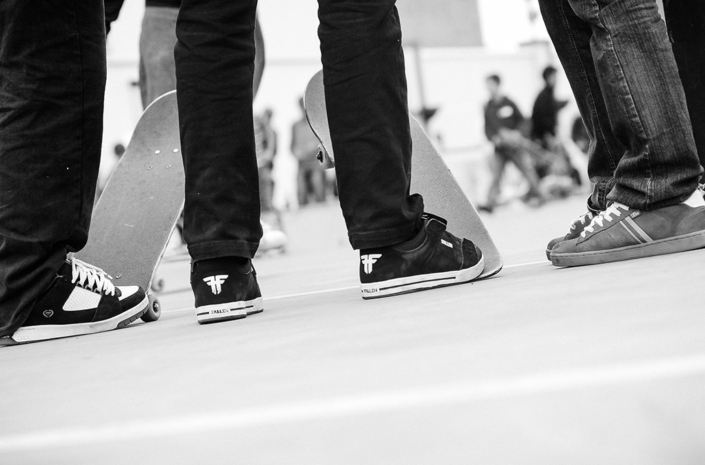 Skateboarding demo photographed by Marcus Maschwitz