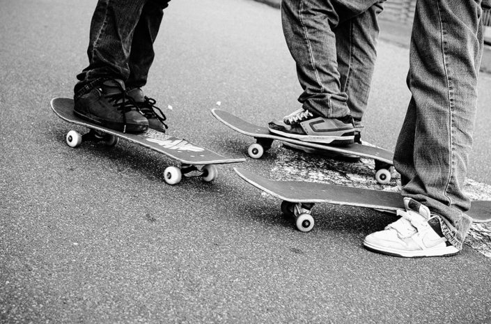 Skateboards in the street photographed by Marcus Maschwitz