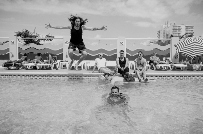 The Blackout swimming in Ibiza photographed by Marcus Maschwitz