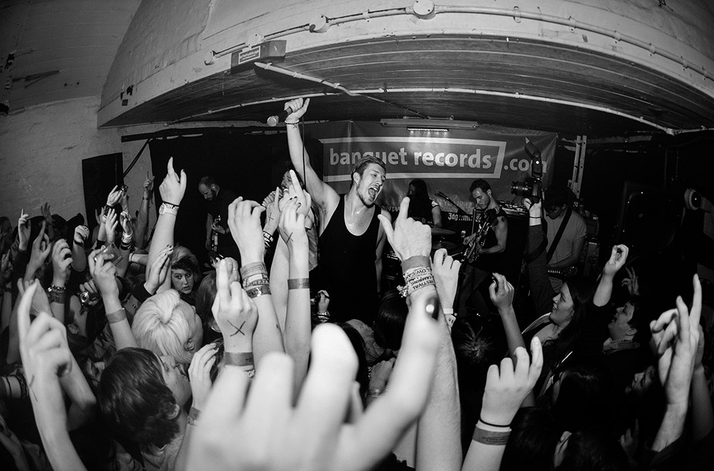 The Blackout playing an intimate show for Banquet Records photographed by Marcus Maschwitz