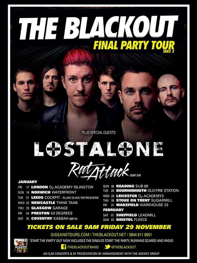 The Blackout Final Party Tour poster photographed by Marcus Maschwitz