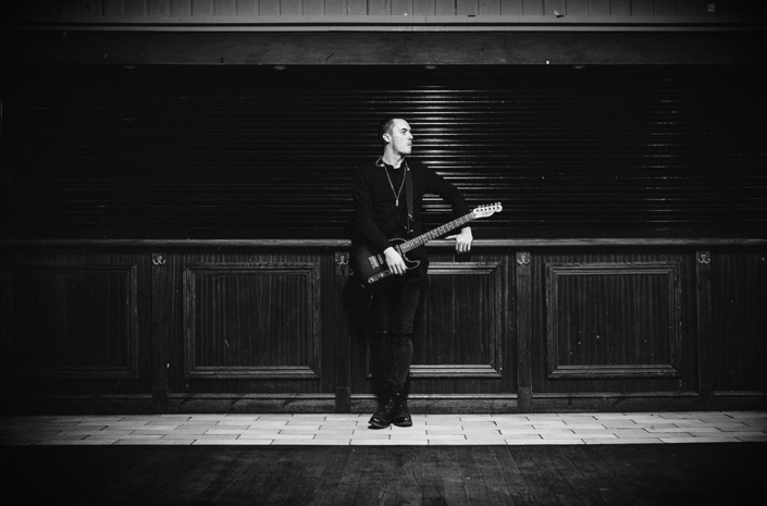 Tyron Layley soundchecking photographed by Marcus Maschwitz