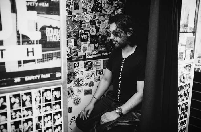 Azim in Rough Trade London photographed by Marcus Maschwitz