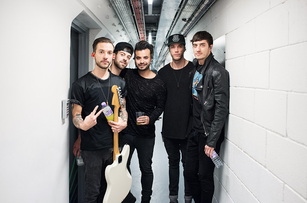 Young Guns backstage at Wembley Arena photographed by Marcus Maschwitz