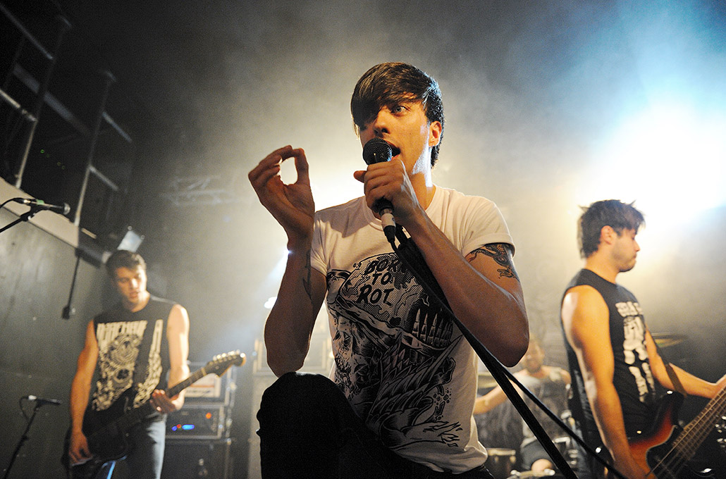 Gustav Wood of Young Guns playing at The Garage photographed by Marcus Maschwitz
