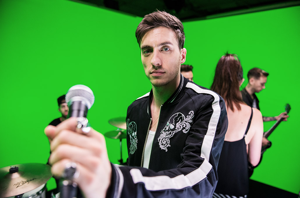 Gustav Wood of Young Guns on a music video set photographed by Marcus Maschwitz
