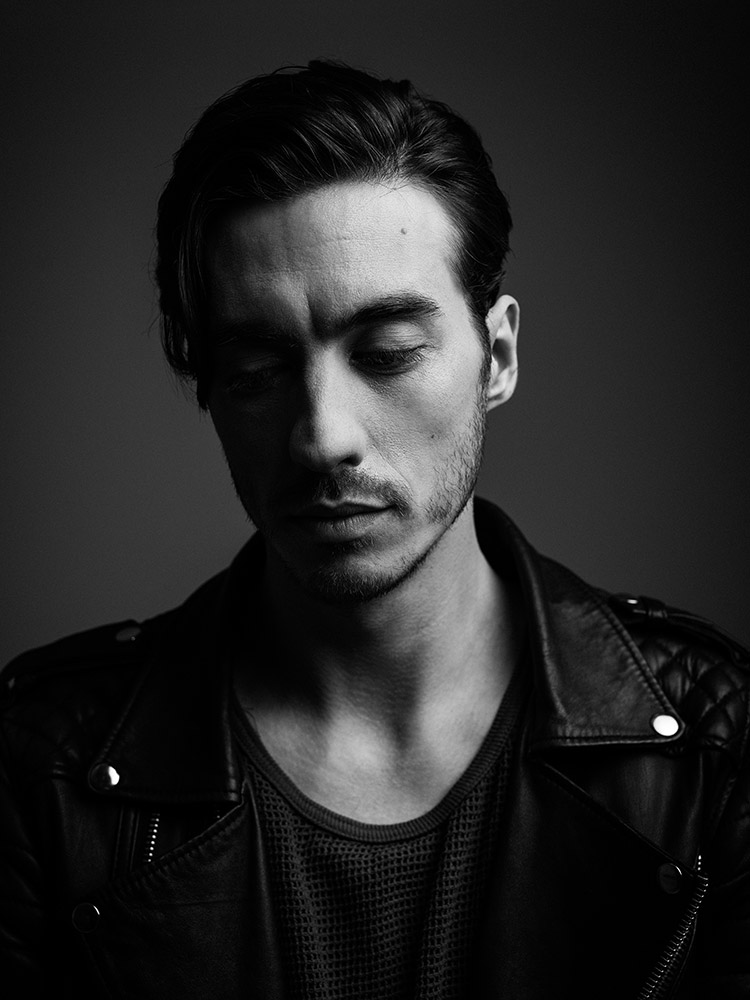 B&W portrait of Gustav Wood of Young Guns photographed by Marcus Maschwitz