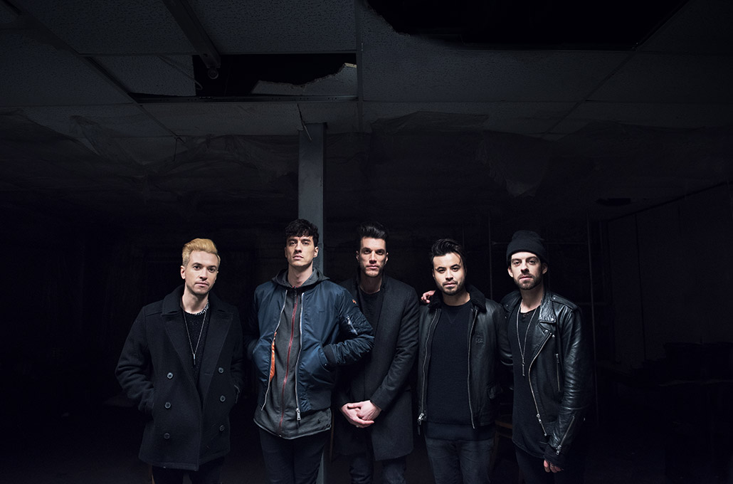 Young Guns portrait on set of a music video photographed by Marcus Maschwitz