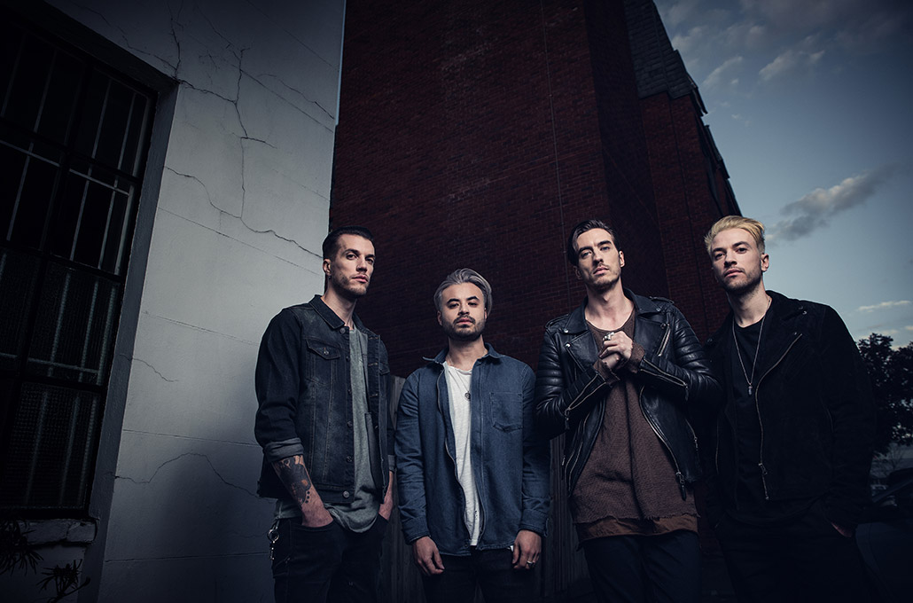 Young Guns band promo outside photographed by Marcus Maschwitz