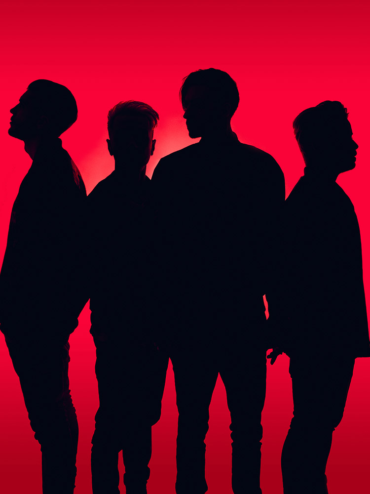 Young Guns band promo portrait silhouette photographed by Marcus Maschwitz