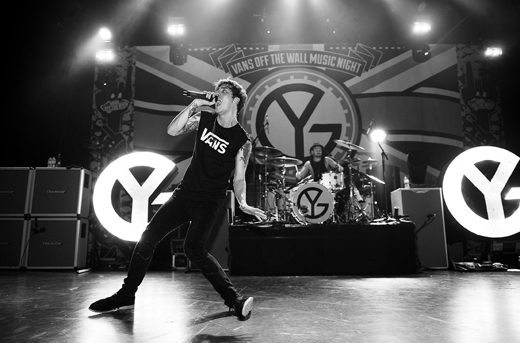 Young Guns during the Vans Off The Wall Tour photographed by Marcus Maschwitz