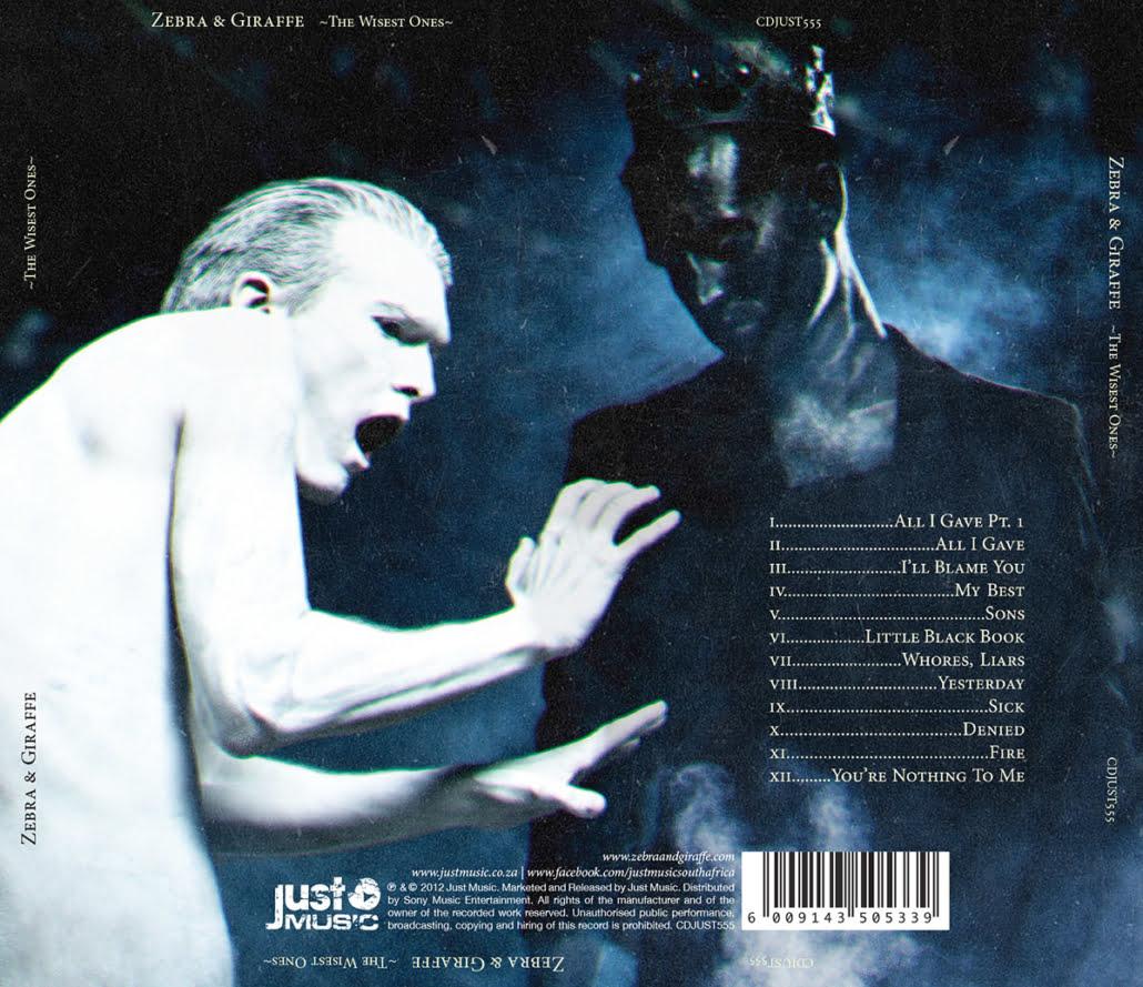Zebra & Giraffe - The Wisest Ones album backing artwork photographed by Marcus Maschwitz
